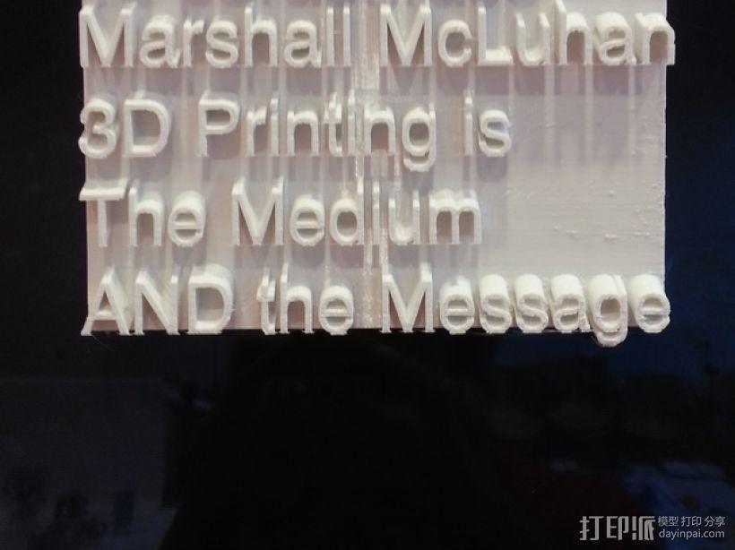 The Medium AND the Message标志板 3D模型  图1