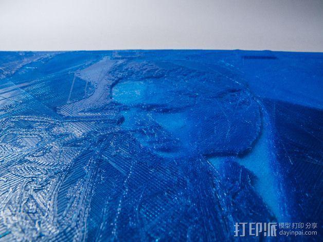透光浮雕  居里奥·纳塔 3D模型  图2