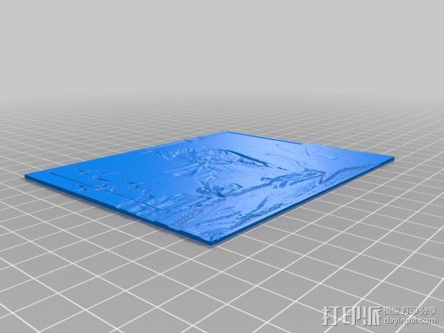 透光浮雕  居里奥·纳塔 3D模型  图4