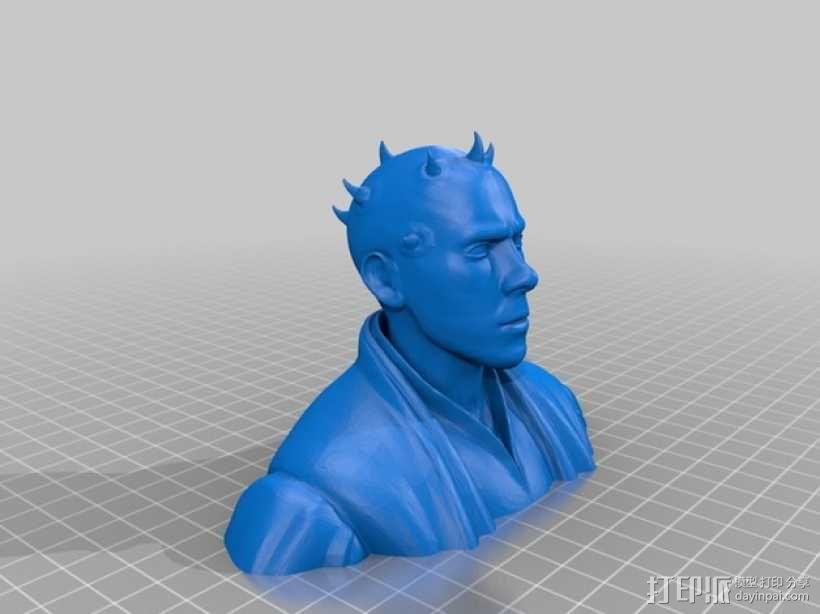 达斯·摩尔 半身像 3D模型  图2