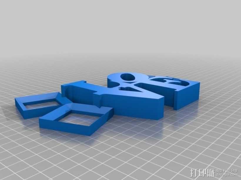 LOVE相框 3D模型  图2