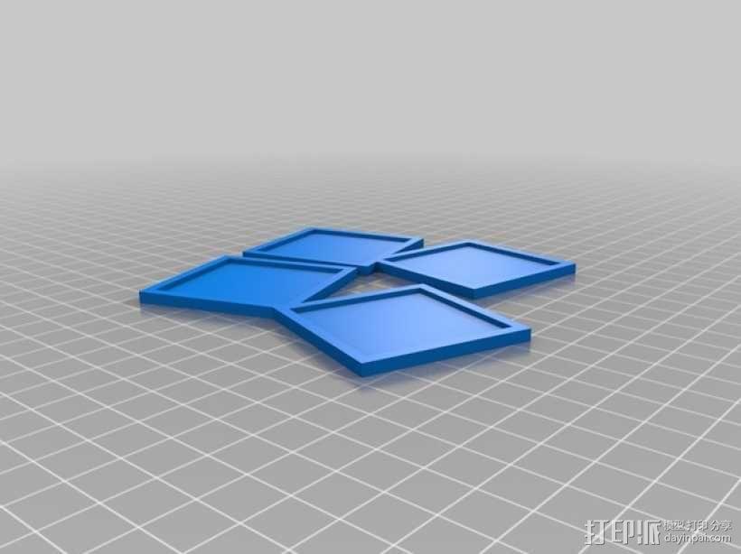 LOVE相框 3D模型  图3