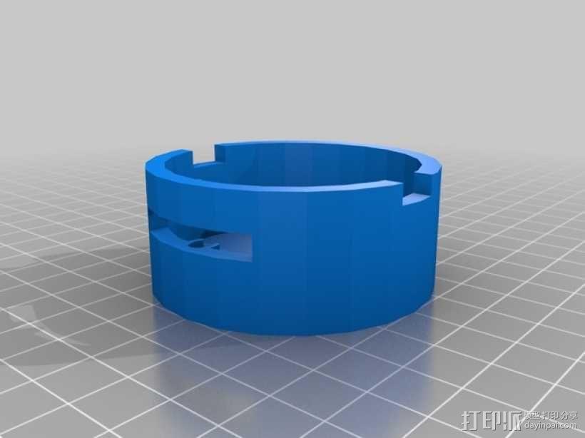 齿轮心盒子 拇指驱动器 3D模型  图2