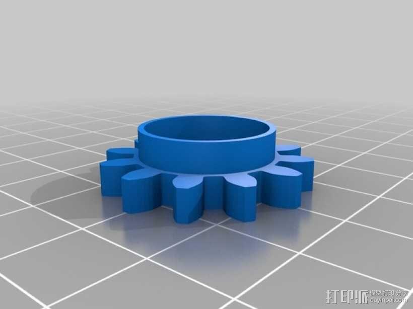 齿轮心盒子 拇指驱动器 3D模型  图4