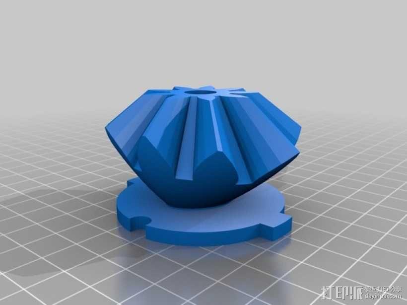 齿轮心盒子 拇指驱动器 3D模型  图5