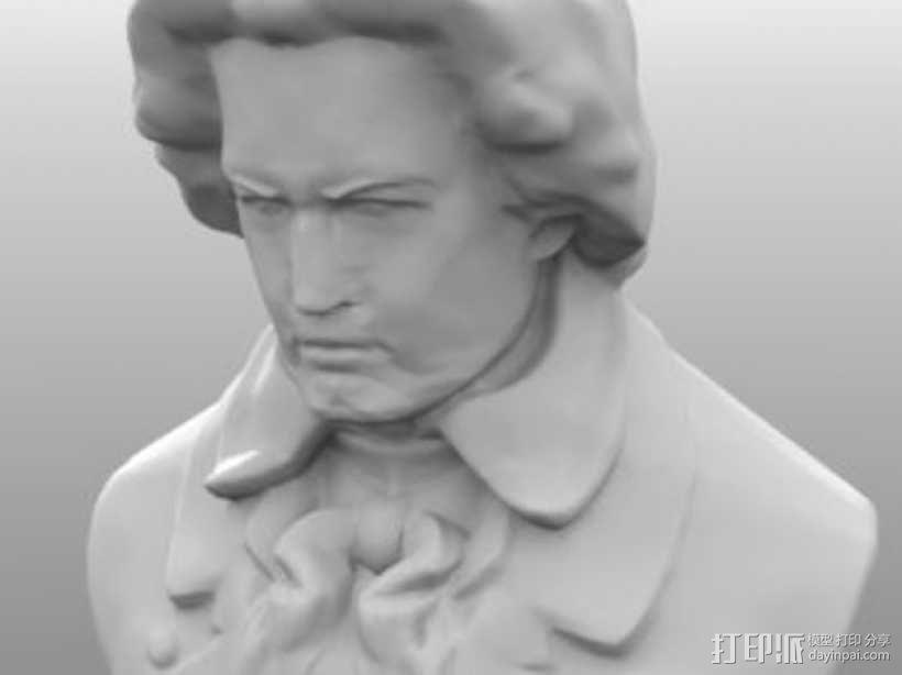贝多芬 模型 3D模型  图1