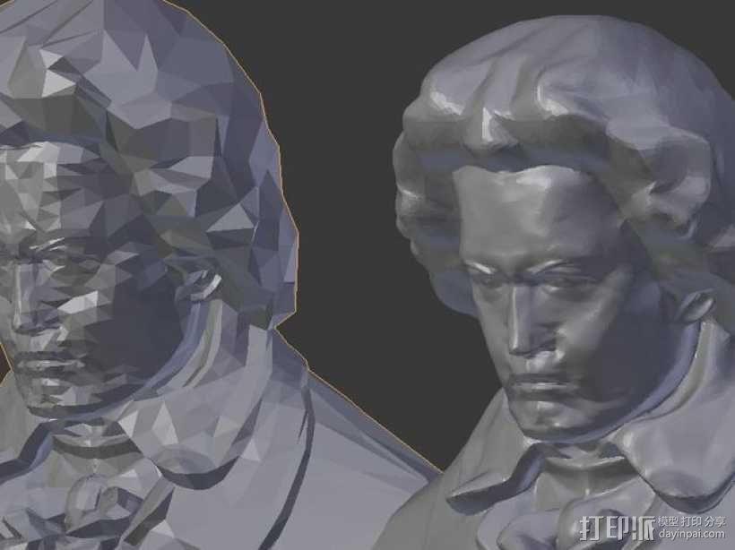 贝多芬 模型 3D模型  图3