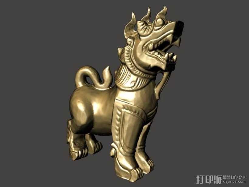 石狮子 模型 3D模型  图1