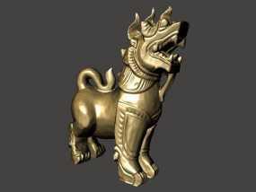 石狮子 模型 3D模型