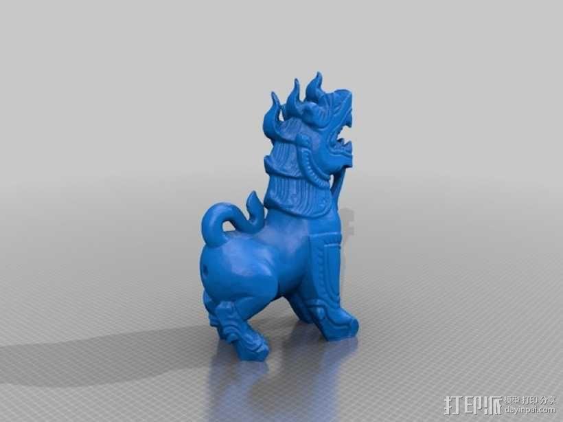 石狮子 模型 3D模型  图2