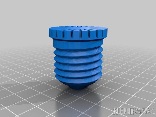 灯泡 3D模型  图2