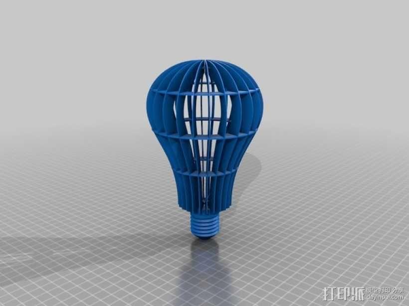 灯泡 3D模型  图1