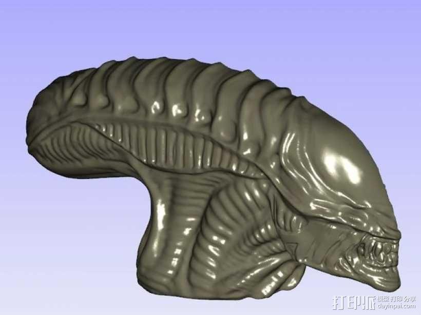 外星人的头 模型 3D模型  图1