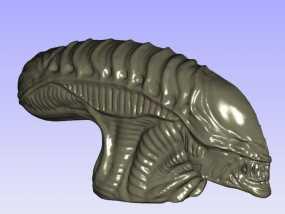 外星人的头 模型 3D模型