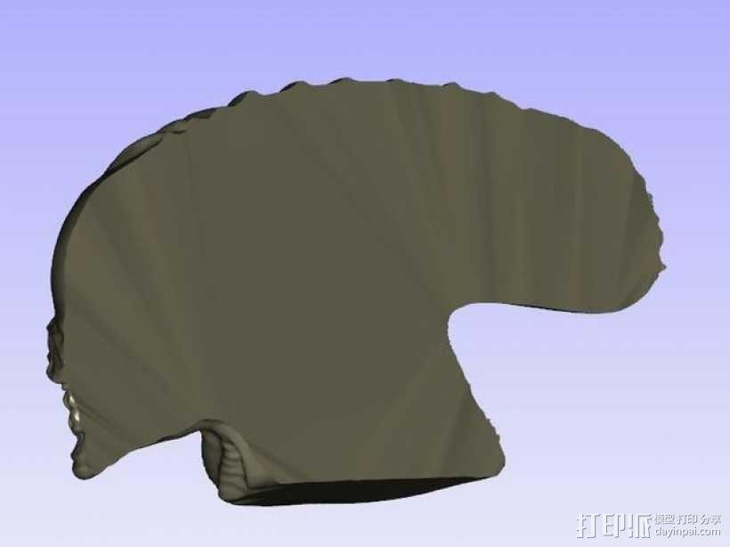 外星人的头 模型 3D模型  图3