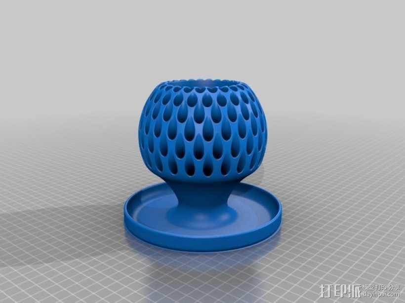 朝鲜蓟铅笔筒 3D模型  图2