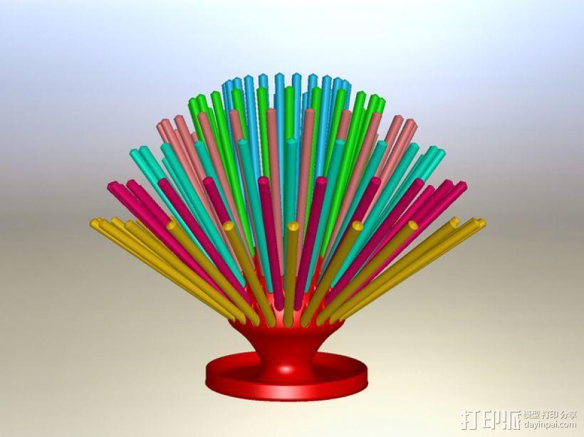 朝鲜蓟铅笔筒 3D模型  图4