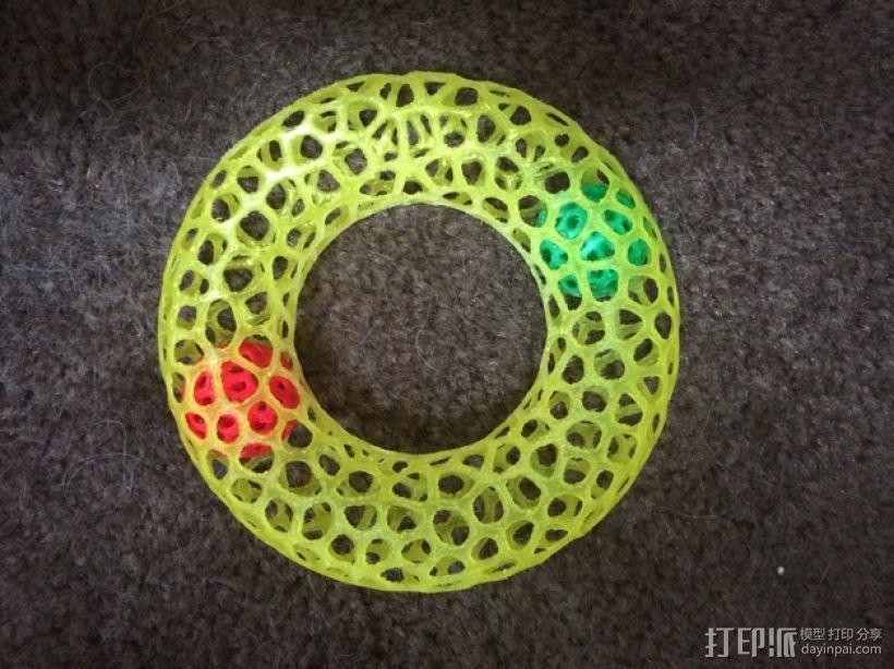 甜甜圈 3D模型  图1