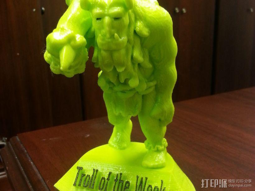 巨魔雕塑 3D模型  图1