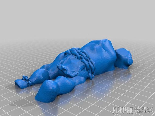 巨魔雕塑 3D模型  图3
