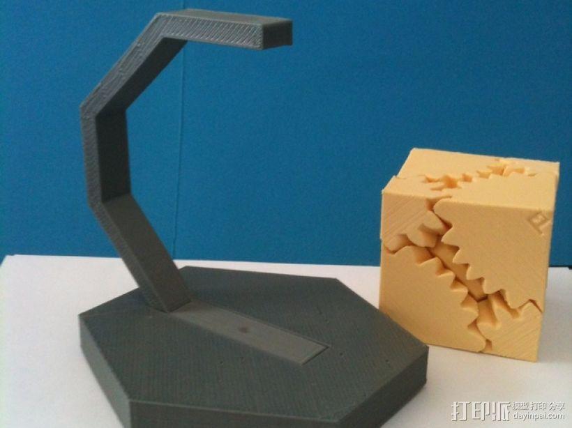 齿轮方块座架 3D模型  图3