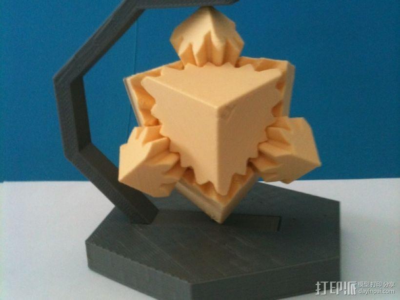 齿轮方块座架 3D模型  图2