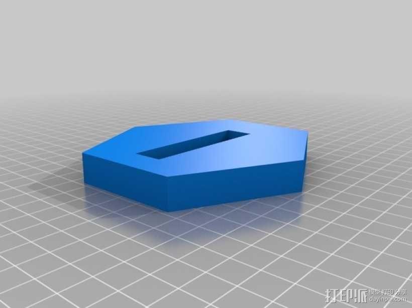 齿轮方块座架 3D模型  图4