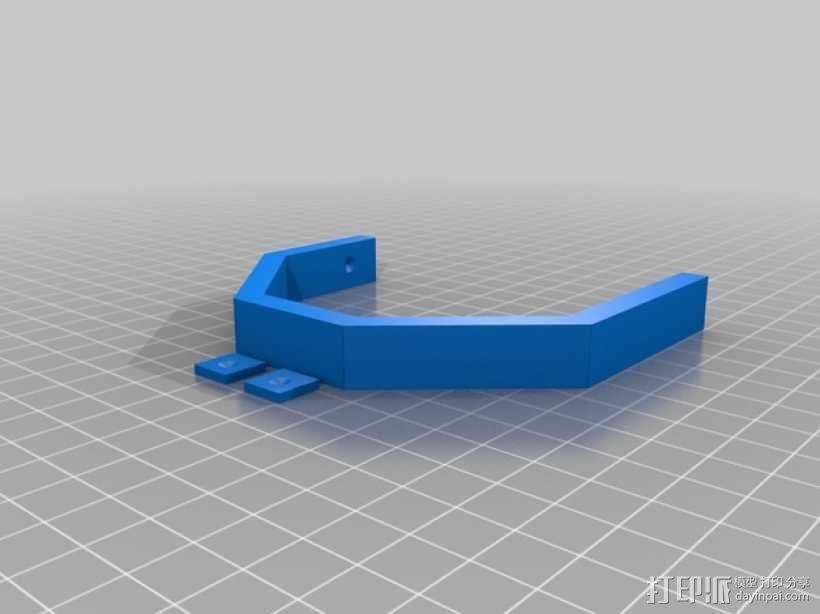 齿轮方块座架 3D模型  图5