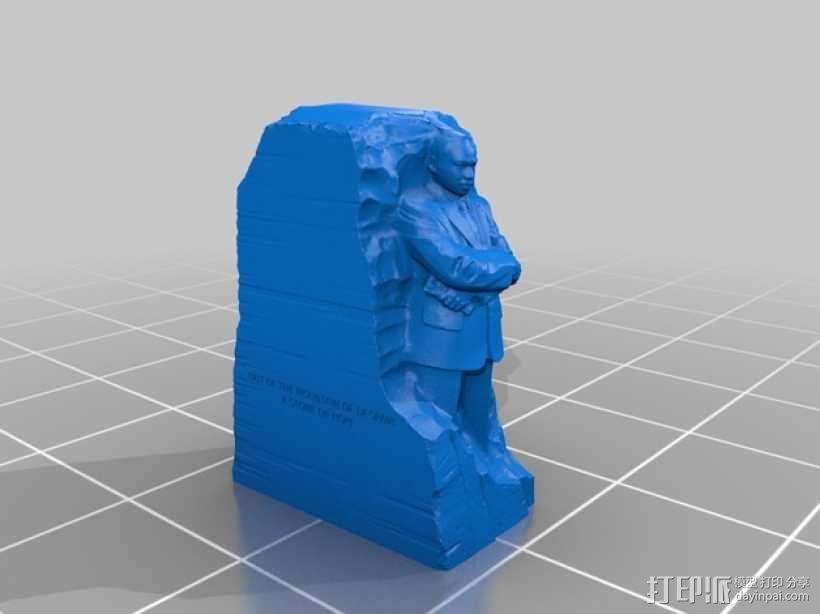 马丁路德金纪念碑模型 3D模型  图2