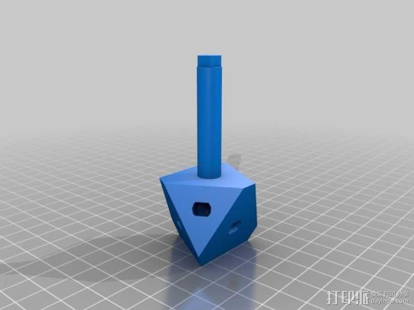齿轮心 3D模型  图2