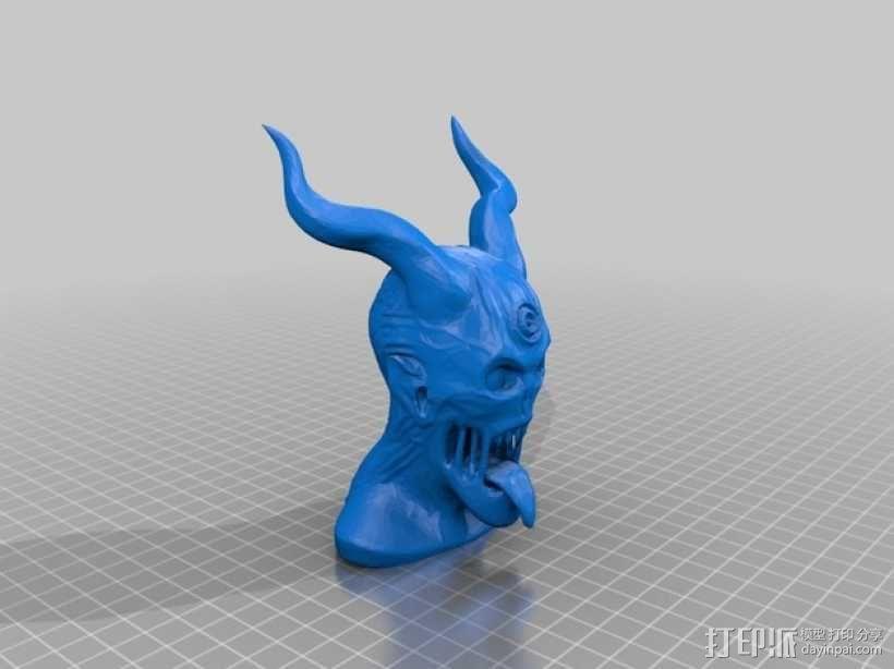 恶魔骑士半身像 3D模型  图1