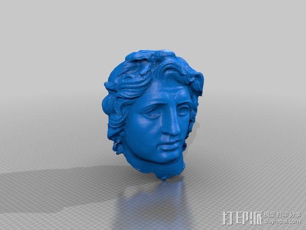 亚历山大大帝头像模型 3D模型  图2