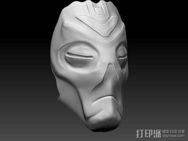 龙祭司面具 3D模型  图1