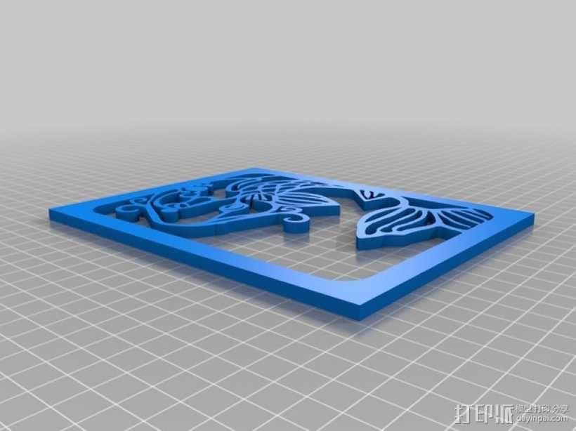 鱼形窗花剪纸模型 3D模型  图5