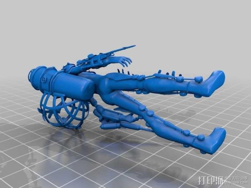 生化奇兵 女战士模型 3D模型  图2