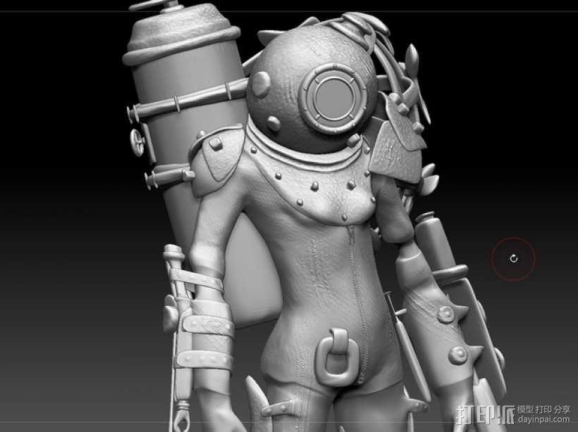 生化奇兵 女战士模型 3D模型  图5