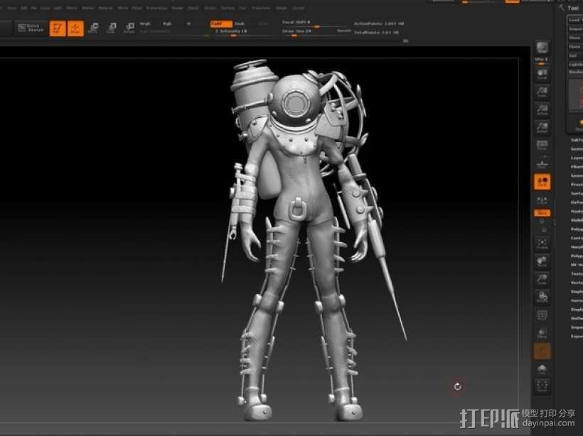 生化奇兵 女战士模型 3D模型  图6