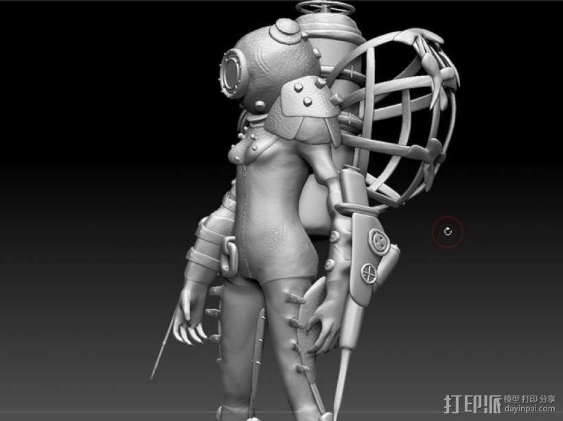 生化奇兵 女战士模型 3D模型  图3