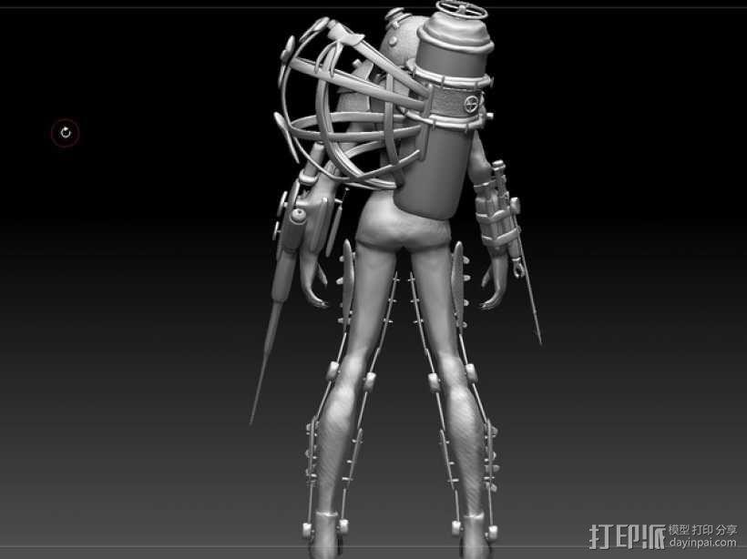 生化奇兵 女战士模型 3D模型  图4