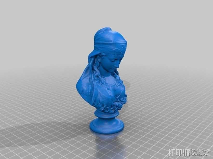 吉普赛女郎 3D模型  图1