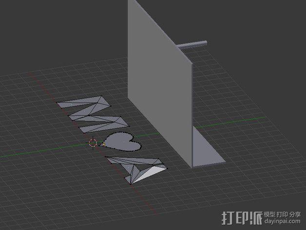 投影板 3D模型  图4