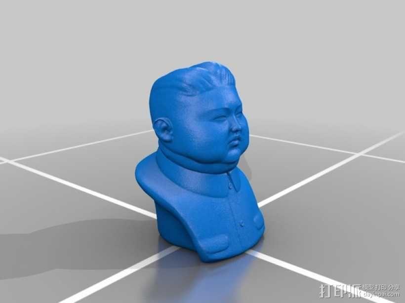 金正恩半身像模型 3D模型  图1