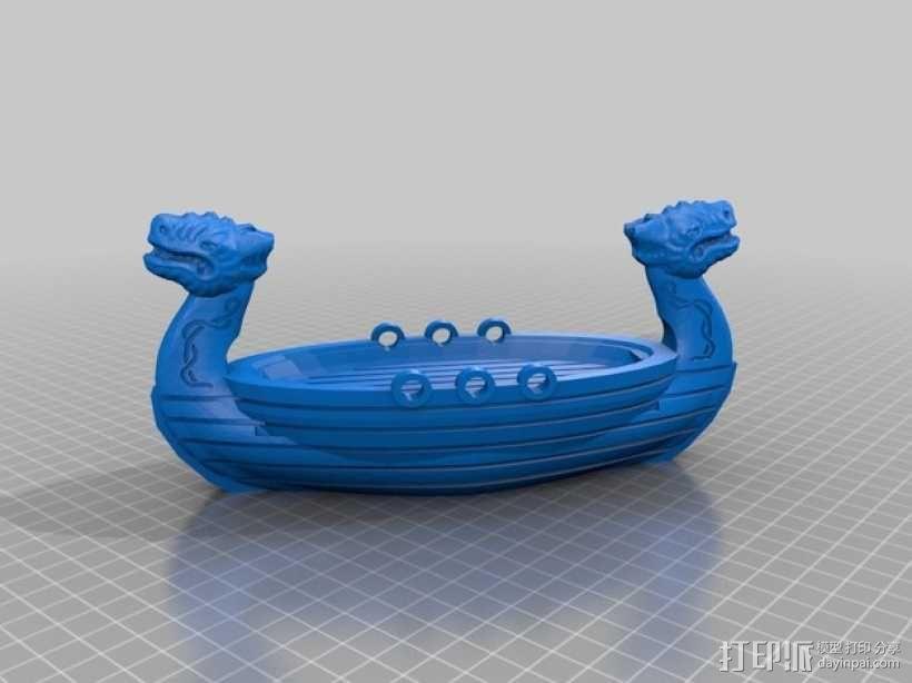维京龙舟 3D模型  图2