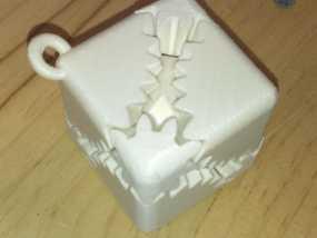 齿轮方块挂件  3D模型