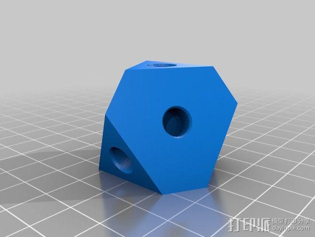 齿轮方块挂件  3D模型  图3