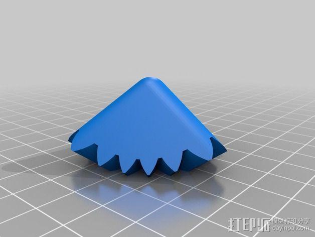 齿轮方块挂件  3D模型  图4