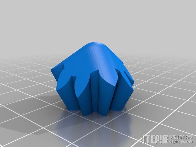 齿轮方块挂件  3D模型  图5