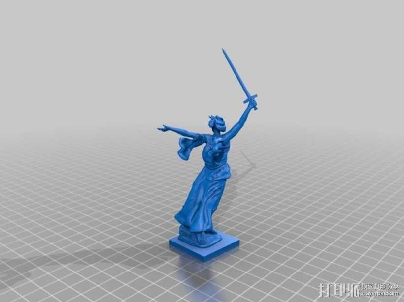 Motherland calls雕像模型 3D模型  图2
