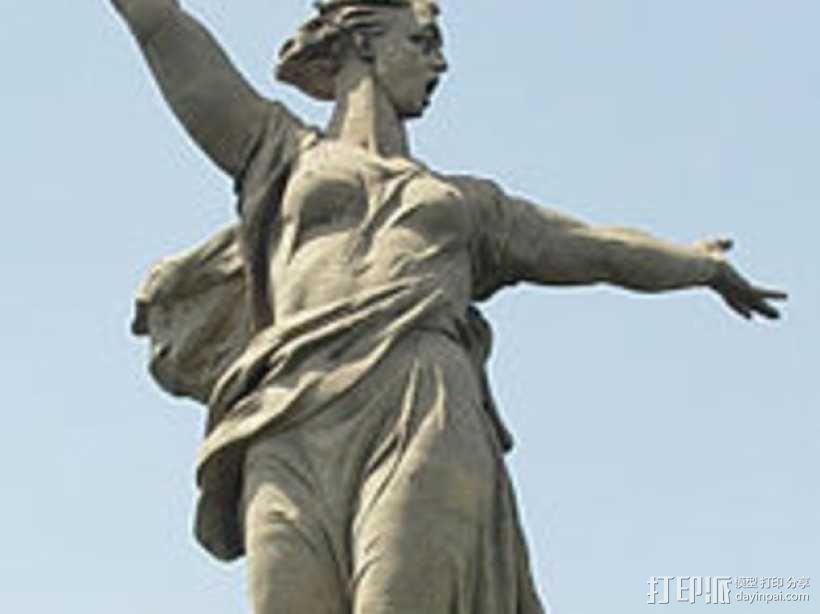 Motherland calls雕像模型 3D模型  图3