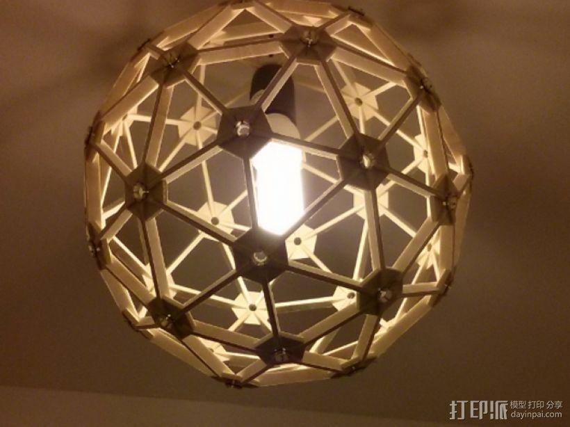 几何镂空灯罩 3D模型  图2